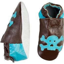 CeLaVi Leather Slippers - Dark Brown