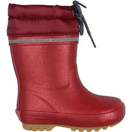 CeLaVi Wellies Thermal Giltter Lace Up - Rio Red