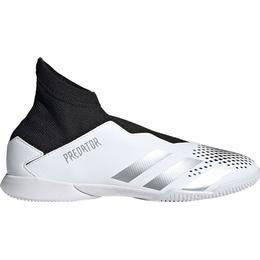 Adidas Junior Predator Mutator 20.3 Laceless Indoor - Cloud White/Silver Metallic/Core Black