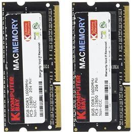 Komputerbay DDR3 1600Mhz 16GB (KB_16GB_2X8GB_1600_SODIMM_CL10_MAC)