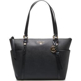 Michael Kors Nomad Medium Saffiano Leather Top-Zip Tote Bag - Black