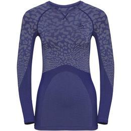 Odlo Blackcomb Long-Sleeve Base Layer Top Women - Clematis Blue/Tradewinds