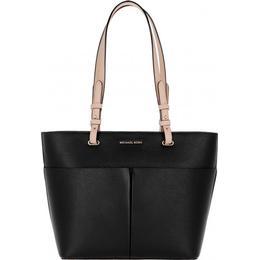 Michael Kors Bedford Medium Top-Zip Pocket Tote Bag - Black