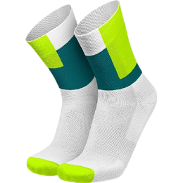 Incylence Squares Canary Running Socks Unisex - Green