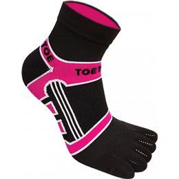 ToeToe Micro-Fibre Running Socks Unisex - Black/Pink