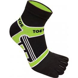 ToeToe Micro-Fibre Running Socks Unisex - Black/Green