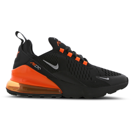 Nike Air Max 270 GS - Black/Total Orange/Metallic Silver