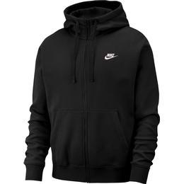 Nike Club Fleece Full-Zip Hoodie Men - Black/White