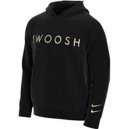 Nike Swoosh Hoodie Men - Black/Metallic Gold