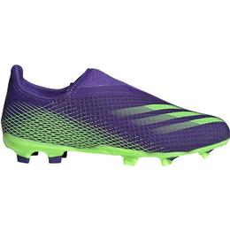Adidas Junior X Ghosted.3 Laceless FG - Energy Ink/Signal Green/Energy Ink