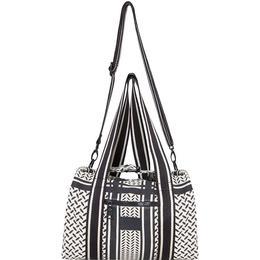 Lala Berlin Small Bag Muriel - Kufiya Off-White/Black