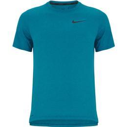 Nike Pro Dri-FIT Short-Sleeve T-shirt Men - Obsidian/Green Abyss/Heather/Black