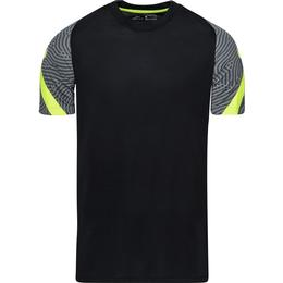 Nike Dri-FIT Strike Short-Sleeve Football Top Men - Black/Smoke Grey/Black/Volt