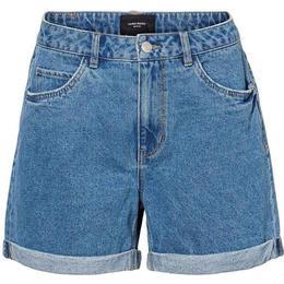 Vero Moda High Waisted Shorts - Blue/Light Blue Denim