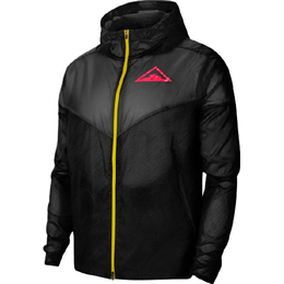 Nike Windrunner Running Jacket with Hood Men - Black/Laser Crimson