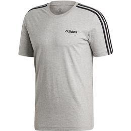 Adidas Essentials 3 Stripes T-shirt Men - Medium Grey Heather/Black