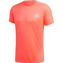 Adidas Own The Run T-shirt Men - Signal Pink/Reflective Silver/Coral