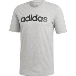 Adidas Essentials Linear Logo T-shirt Men - Medium Grey Heather/Black