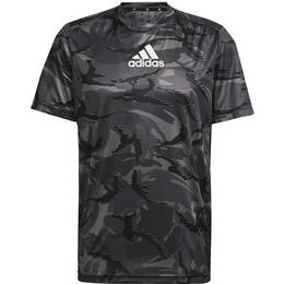 Adidas Designed To Move Aeroready Camouflage Graphic T-shirt Men - Grey Four