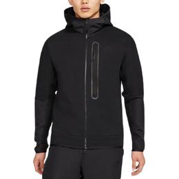 Nike Tech Fleece Nylon Mix Full Zip Hoodie Men - Black