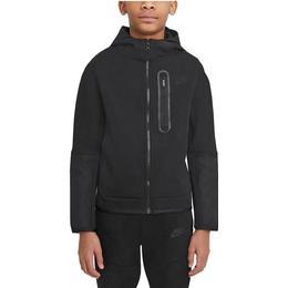 Nike Tech Fleece Woven Full-Zip Hoodie Children - Black