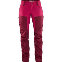 Fjällräven Keb Trousers Curved W Short - Dark Garnet/Plum