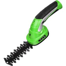 tectake Cordless Hedge Trimmer with 2 Attachments and Telescopic Pole including Battery