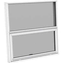 Sparvinduer FT0102 Træ Tophængt vindue Dobbelt-rude 38x74cm