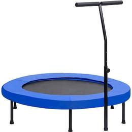 vidaXL Fitness Trampoline with Handle & Safety Cushion 122cm