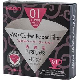 Hario V60 Coffee Filter 01x40st