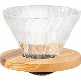 Hario V60 Glass Dripper Olive Wood 02