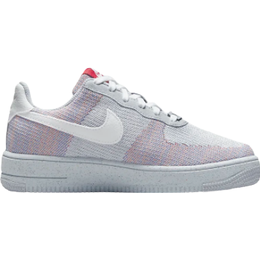 Nike Air Force 1 Crater Flyknit GS - Wolf Gray/Pure Platinum/Gym Red/White