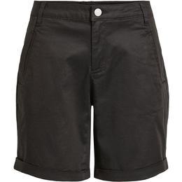 Vila Lyocell Blend Chino Shorts - Black