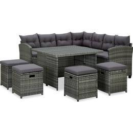 vidaXL 315231 Loungesæt, 1 borde inkl. 1 sofaer