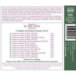 Scarlatti: Complete Keyboard Sonatas, Vol. 8