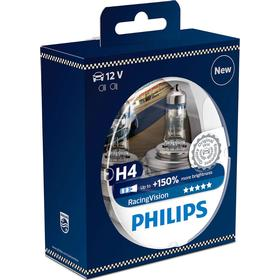 Philips Racing Vision H4 pære +150% mere lys (2 stk)