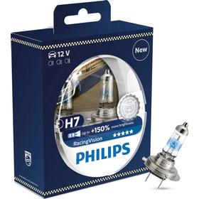 H7 Pære - Philips RacingVision +150% - (Twin Pack)