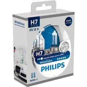 Philips WhiteVision H7 + W5W 2 2 stk
