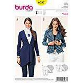 Burda Pattern Jacket B6587 Paper White 19 x 13 x 1 cm