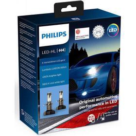 Philips X-treme Ultinon H4 LED gen2 +250% mere lys ( 2 stk.)