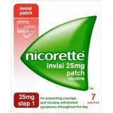 Nikotinplaster Håndkøbsmedicin Nicorette Step1 Invisi 25mg 7stk