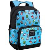 Rygsæk Minecraft Bobble Mobs Backpack - Blue
