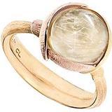 Ole Lynggaard Lotus Ring 2 - Gold/Rose Gold/Rutile Quartz