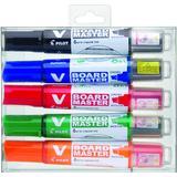 Hobbymaterialer Pilot V Board Master Whiteboard Markers Medium Chisel Tip 5-pack