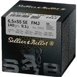Jagt Sellier&Bellot 6.5x55 SE FMJ 140gr 50-pack