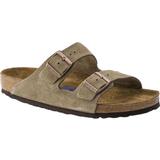 Damer Sko Birkenstock Arizona Soft Footbed Suede Leather - Taupe