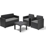 Keter Alabama Loungesæt, 1 borde inkl. 2 stole & 1 sofaer