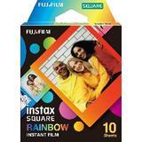 Instax square film Analoge kameraer Fujifilm Instax Square Film Rainbow 10 pack