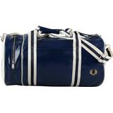 Tasker Fred Perry Classic Barrel Bag - Navy/Ecru