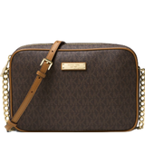 Tasker Michael Kors Jet Set Travel Logo Crossbody Bag - Brown